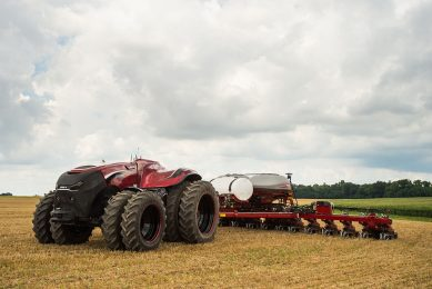 The Magnum-size Case IH concept imagines a tractor with sufficient automation that it no longer needs a cab. - Photo: CNHi