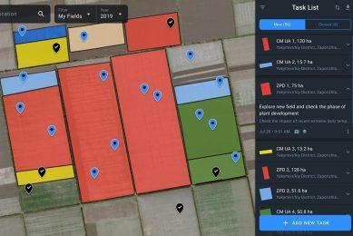 EOS Crop Monitoring platform interface