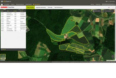 Live satellite imagery with 365FarmNet Crop View