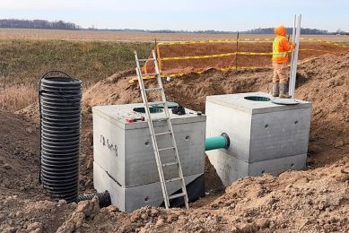 Installation of a surface water filtration box system in Chatham-Kent