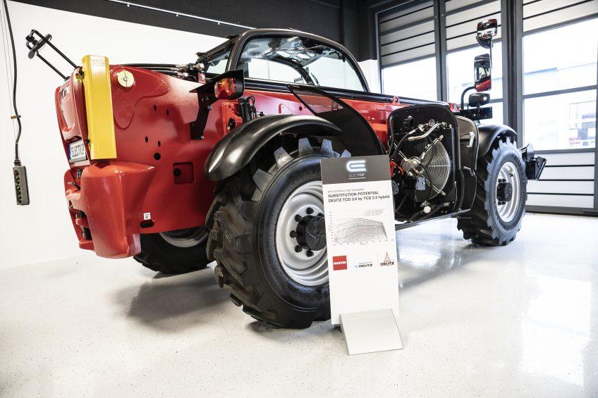Manitou is de eerste fabrikant die de keus maakt om ook de hybride en elektrische motoren van Deutz, of E-Deutz, toe te passen in verreikers.