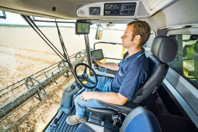 Auto steering and speed control relieve the combine operator - aboard a New Holland CR10.90 Revelation in this instance - of basic tasks that allow more time to be spent perfecting settings for output and sample quality. Photo: New Holland