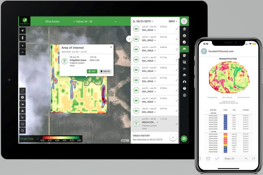 Netafim integrates FluroSat remote sensing technology