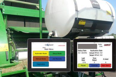 Forage additive application made easy via tablet app
