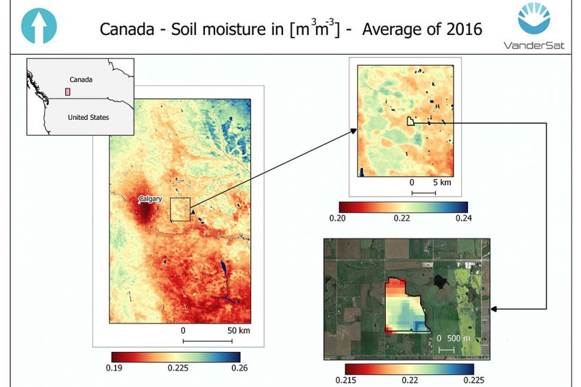 Multi-million investment to calculate soil moisture from space