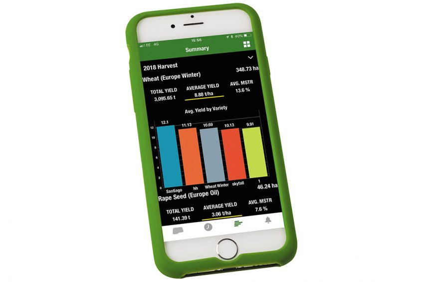 John Deere app for access to machine and field data