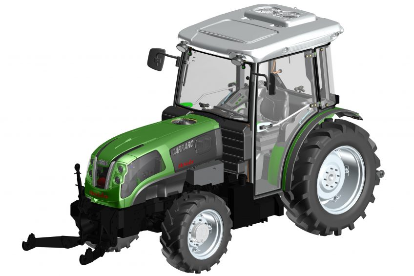 Carraro develops diesel + electric orchard tractor