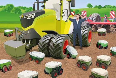 The size of wheeled tractors is reaching it's maximum. For work not requiring lots of horsepower, swarm technology will become a serious alternative.