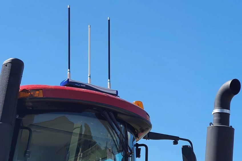 Wi-Fi repeater creates bubble of connectivity around tractor