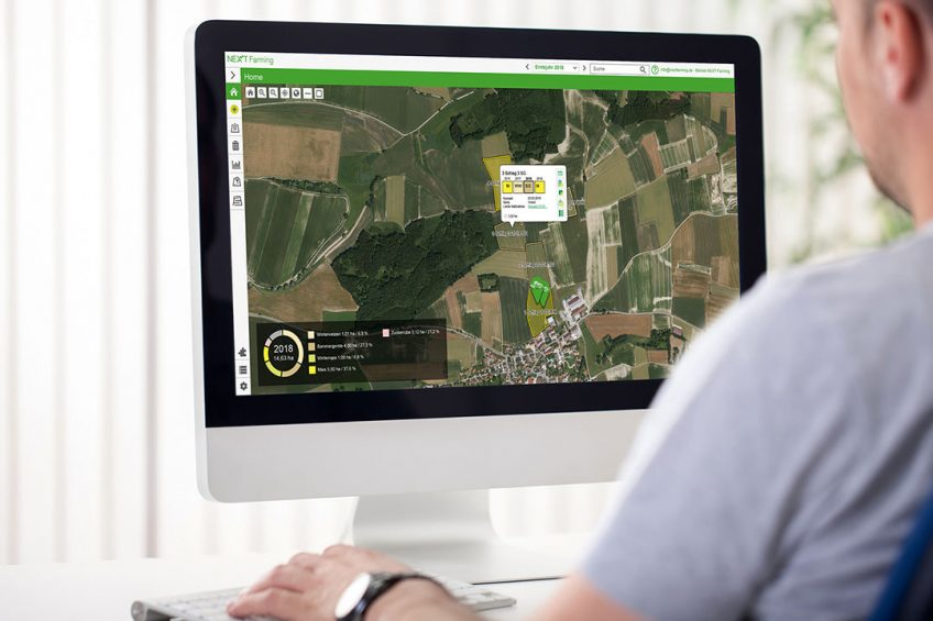 NEXT Machine Management is a product that lets farmers easily integrate every machine into their production processes, including planning and scheduling orders, legal documentation, field mapping and wayline administration. The farmer has more transparency and a basis for future improvements in their operations. This is essential for automated, process-oriented data use, especially for companies with mixed fleets.