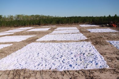Pulverised paper to revitalise soil