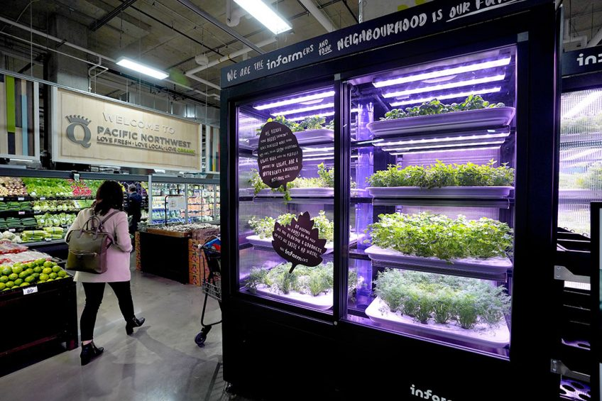 Infarm launches its very first U.S. urban farm in collaboration with Kroger / QFC in Kirkland, Washington on November 25, 2019.  The first harvest marks the bringing of high-quality, sustainably- grown herbs and leafy greens directly in their neighborhood.  Photo by Marcus Donner  Infarms are modular and can stack to fit any given space. You ll find them in supermarkets, restaurants and distribution centers, where the produce is harvested and offered fresh, living and full of flavor, right in your neighborhood.  We remotely control all infarms through our cloud-based farming platform, that learns, adjusts and improves itself continuously, so each plant grows better than the one before.  Each infarm is a controlled ecosystem with the perfect amount of light, air & nutrients. An optimal set of conditions that enables our plants to express their natural tastiness to the fullest.  By recreating different growing environments from around the world, we are growing plants previously too delicate, rare or expensive to survive the long journey to your plate.  As we install infarms in neighbourhoods around the world, we re saving thousands of food miles, preserving water and natural resources, and laying the foundation for a new urban food system.