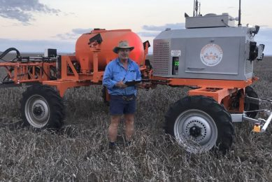 """In the past weeks, Jamie has been running his new robot system daily on his farm. """"We really don't understand yet what the full potential of it is."""""""