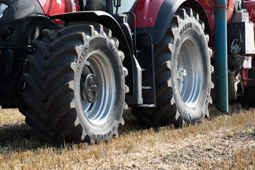 Tyre allows lower pressures for high-horsepower tractors