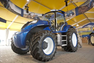 At Agritechnica 2017 New Holland presented a 180hp methane tractor. In production in 2020.