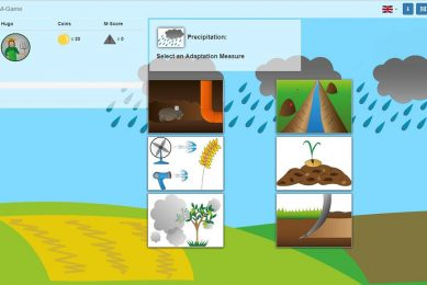 Simulation game to help farmer adapt to climate change
