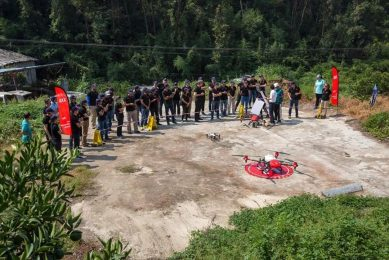 XAG and Bayer demonstrate drone spraying in China