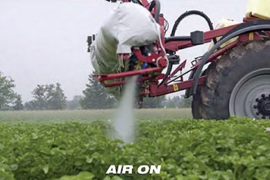 Significant reduction in drift with airbag sprayers