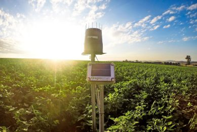 AgroSmart sensor colletcs data inside the plantation.