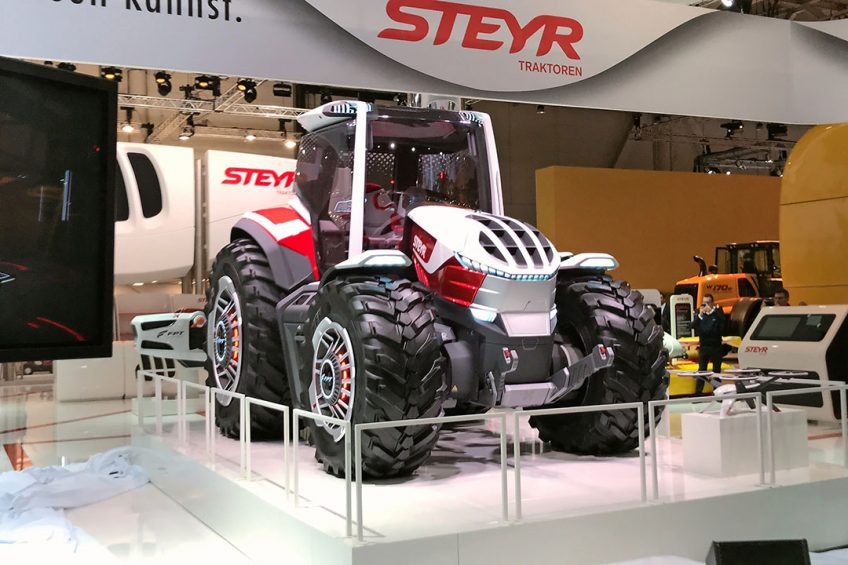 Steyr shows hybrid powered concept tractor