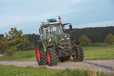 This is the Fendt e100 Vario electric tractor