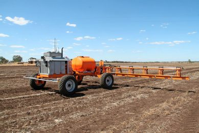 Rometron weed-detection is incorporated into the iPad operating system for SwarmFarm Robotics autonomous vehicles, now in commercial use in Australia for controlling a broad spectrum of broadleaf and grass weeds in fallow paddocks after grain or cotton crops.
