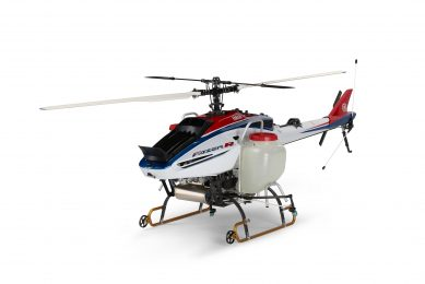 Yamaha developing remote-control spraying helicopter business