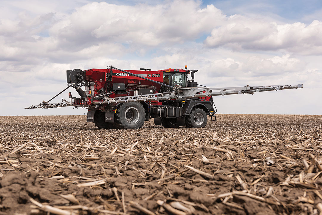 Case IH is adding a new 90-ft. boom option - now the widest boom configuration available - for the FA 1030 air boom applicator. - Photo: Case IH