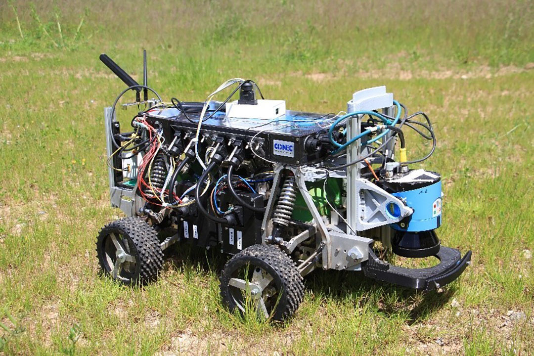 The first winner of the Basic Navigation task of the online international Field Robot event was Beteigeuze Nova. They managed to finish the entire virtual field in 2:22 minutes, with only four plants damaged. - Photo: DLG