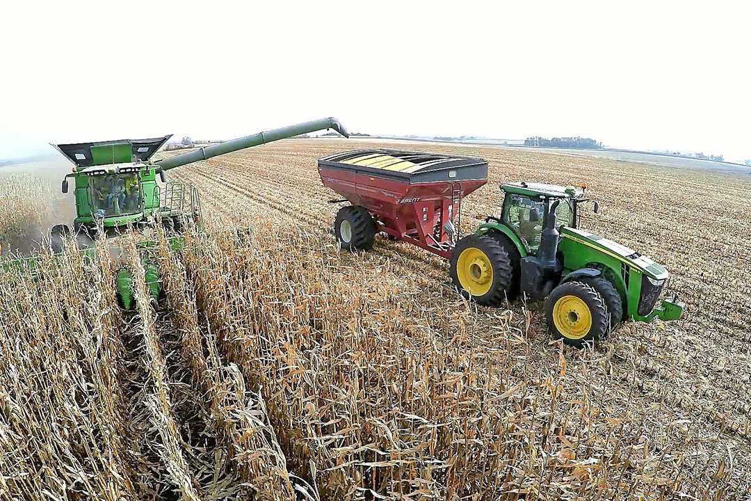 Precision agriculture and autonomy are critical components of CNH's strategy. Raven Industries owns Smart Ag, the maker of AutoCart, which allows a tractor to follow a combine harvester autonomously. - Photo: Raven Industries