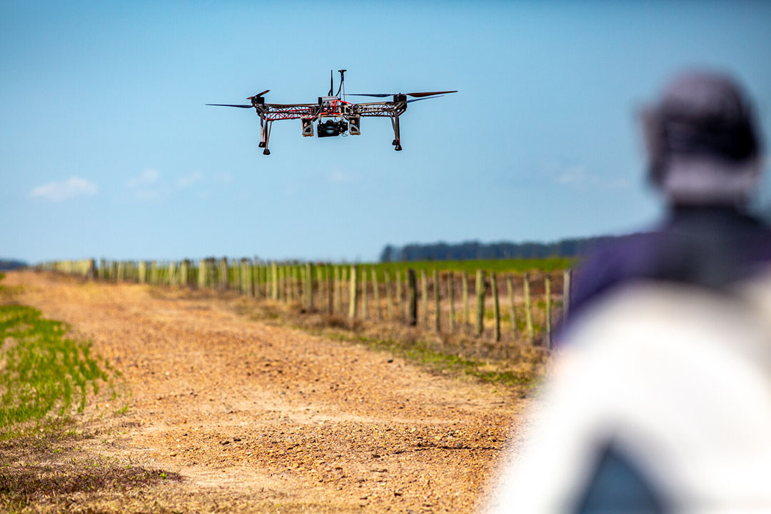 ARPAC is a pioneer in agricultural spraying with drones for disease and pest control.