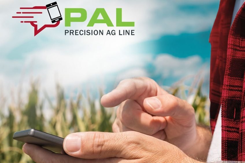 AGCO's Precision Ag Line (PAL) connects customers with precision ag experts via phone or text message. - Photo: AGCO