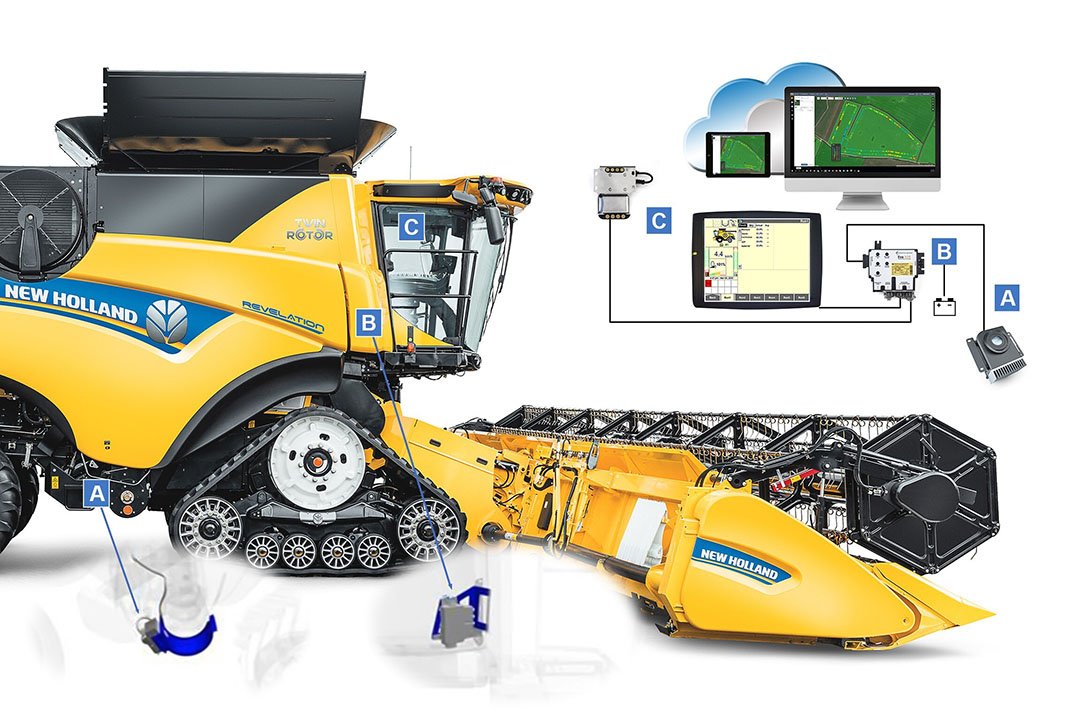 The NutriSense system on New Holland CR, CX7 and CX8 combines provides information on nutrients , enablig farmers to optimise the use of inputs, determine the best way to manage their crop, and understand value of their crop to obtain the best price for it.  - Photo: New Holland
