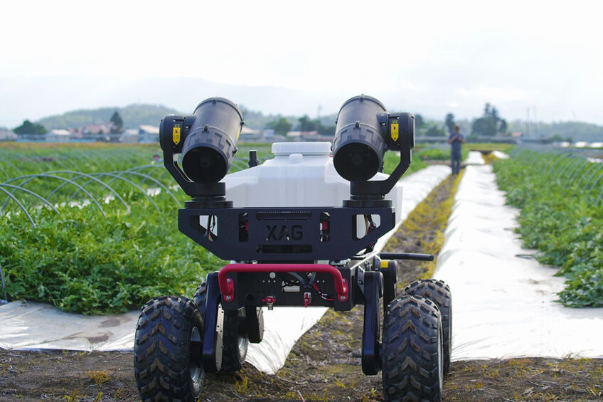 XAG R150 Unmanned Ground Vehicle working on a watermelon farm in Japan. - Photo: XAG