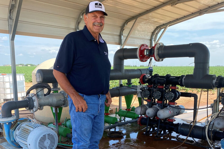 Mike Patschke grows cotton, wheat and corn. Mike has been using Netafim drip irrigation since 1997. - Photo: Netafim