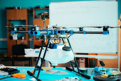 Currently, the Agroday drone is designed to carry a payload of up to 2 kg. - Photo: Astrakhan State University