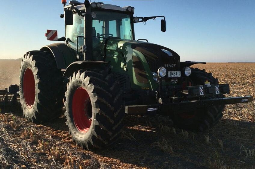 First unmanned tractor of Gerrit Kurstjens. - Photo: Gerrit Kurstjens